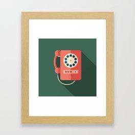 Retro Payphone Framed Art Print