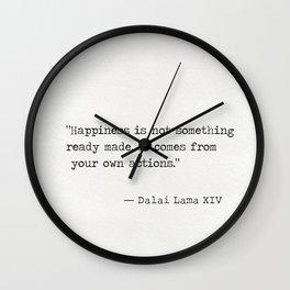 Dalai Lama XIV quote Wall Clock