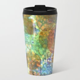 Bubbling Geometric Forms over Curved Lines  Travel Mug