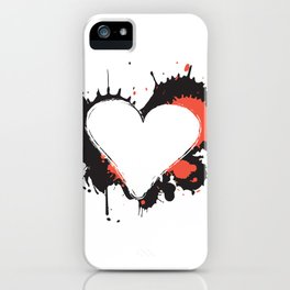 I Heart Live Art iPhone Case