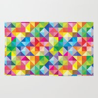 geo Area & Throw Rugs featuring Geo by Lucy Jacquard