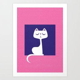 Cat in a window Art Print