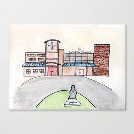 SHA Watercolor, Sacred Heart Academy, Louisville, KY Canvas Print