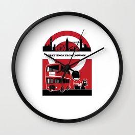 Greetings from London Wall Clock