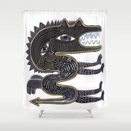 decorative surreal dragon Shower Curtain