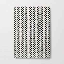 Mud Cloth Arrow Glam #1 #pattern #decor #art #society6 Metal Print
