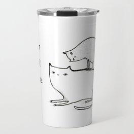 Slightly Threatening Romantic Cat Travel Mug