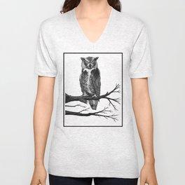 Great Horned Owl Unisex V-Neck