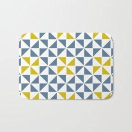Pinwheel Quilt Blue and Yellow Bath Mat