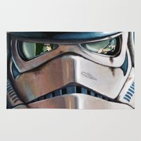 stormtrooper Area & Throw Rugs featuring Stormtrooper by Mel Hampson