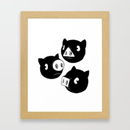 Three little piggies Framed Art Print