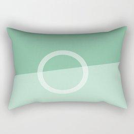 Teal Slice Rectangular Pillow