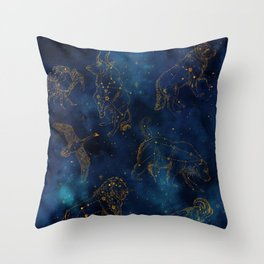 Animal Constellations Throw Pillow