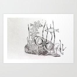 The Symbol of Eternal Love Art Print