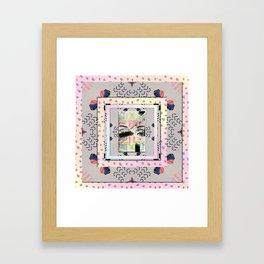 Eye Lashes Framed Art Print