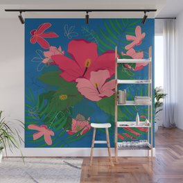 Hibiscus Says What? Wall Mural