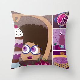 For Days She Ate Brownies Throw Pillow