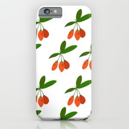 Goji Berry Plant Exotic Tropical Fruit Chinese  iPhone Case