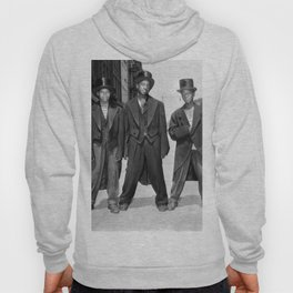 African American Teenagers with Tuxedos & Top-Hats During The August, 1943 Riots In Harlem portrait Hoody