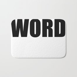 WORD Bath Mat