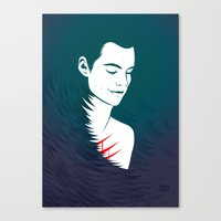 stiles stilinski Canvas Prints featuring Teen Wolf Stiles Stilinski by neonico