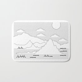 Mountains and Lines Bath Mat