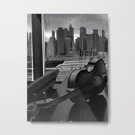 Viola in Black and Whiter Metal Print