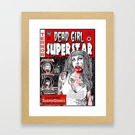 """DEAD GIRL SUPERSTAR """"RETRO COMIC COVER"""" Framed Art Print"""