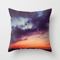 Burning Berlin Sky Throw Pillow