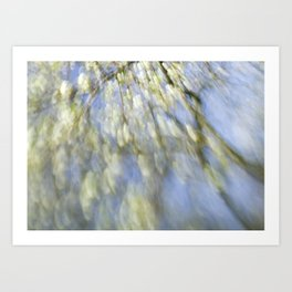 Spring blossom abstract Art Print