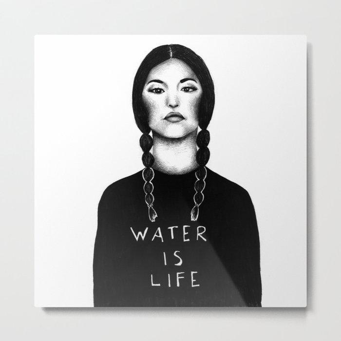 Water Is Life Metal Print