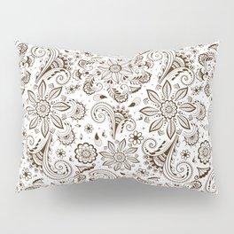 Mehndi or Henna Flowers Pillow Sham