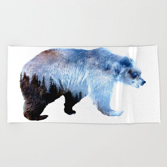 Lazy Bear Beach Towel