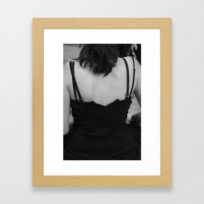 A gamer's back Framed Art Print