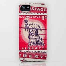 Stamp of Liberty iPhone Case