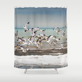 Time to go Shower Curtain