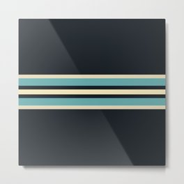 Fusahide - Classic 70s Retro Stripes Metal Print