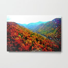 Through The Mountains of Chimney Rock Metal Print