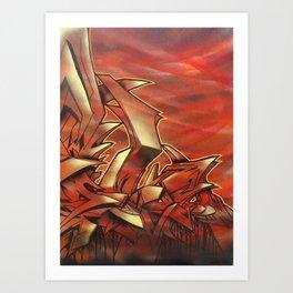Deep of Red Art Print