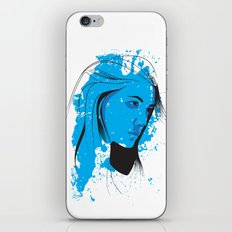 Black, blue & white II iPhone & iPod Skin