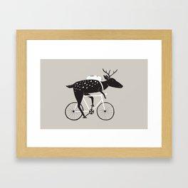 Dear Cyclist Framed Art Print