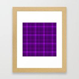 Purple plaid checkered pattern Framed Art Print