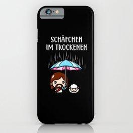 Schäfchen im Trockenen Jesus Christlich Fun iPhone Case