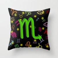 scorpio Throw Pillows featuring Scorpio by Thisisnotme