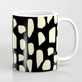spot doodle_cream on black Coffee Mug