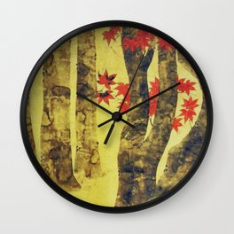 Anata In Red and Gold Wall Clock