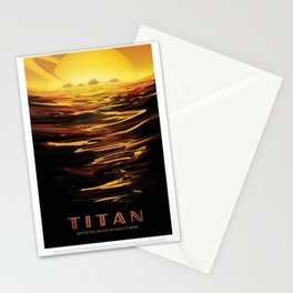 NASA Visions of the Future - Titan: Ride the tides through the throat of Kraken Stationery Cards