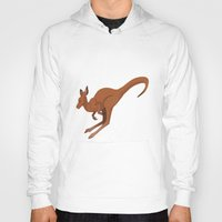 kangaroo Hoodies featuring Kangaroo by Imaginative Ink