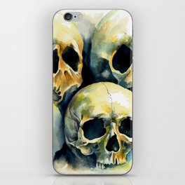 Orangelight skulls iPhone Skin