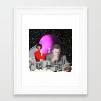 computer Framed Art Prints featuring Computer Life by TRASH RIOT